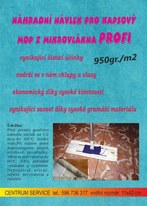 Návlek mopu 950gr./m2 Centrum Service