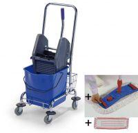 Úklidový set Single Standard - vozík, mop, AL tyč, 2 návleky